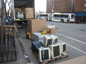 truck full of e-waste ready to to recycled