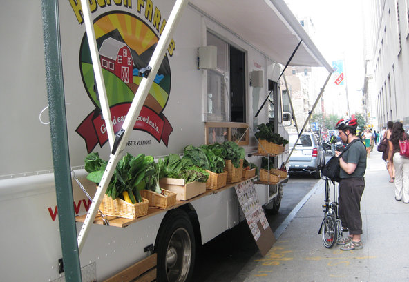 The Farm Truck from Holton Farms on one of its 22 stops in Manhattan