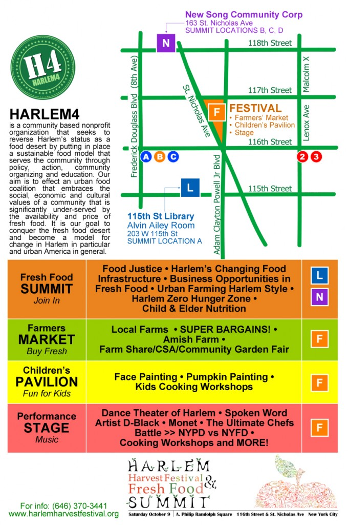 Harlem Harvest Festival Map