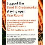 Help Extend the 82nd Street Greenmarket Year-Round!
