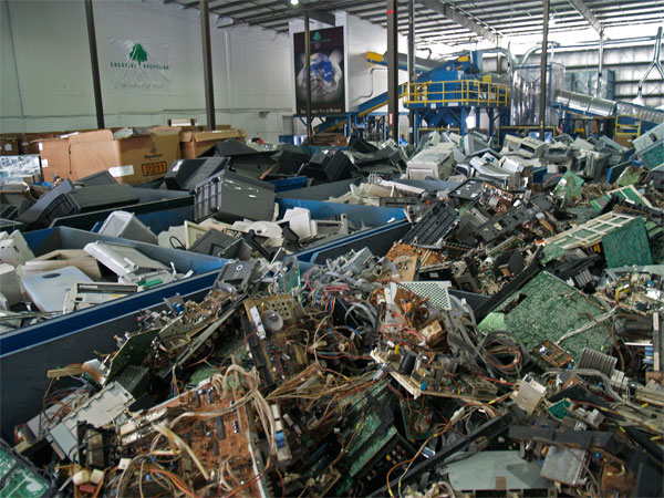 Electronics to be recycled